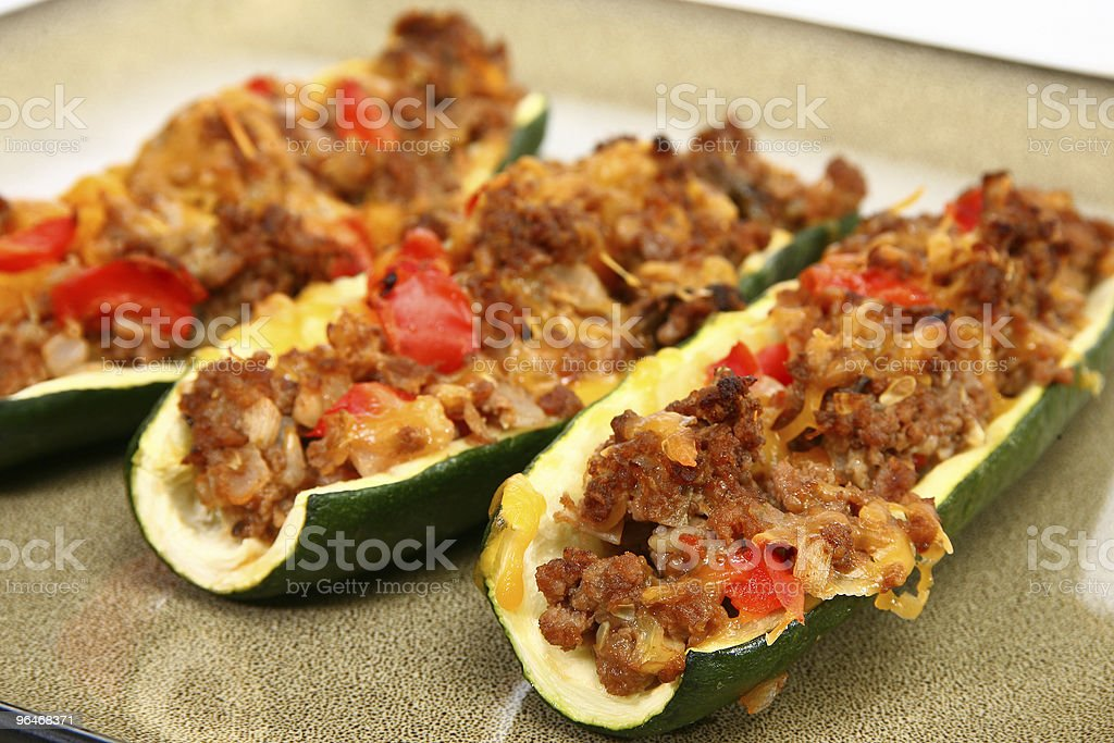 Zucchini Boat stock photo