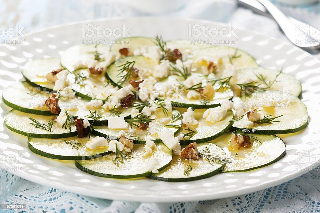 Zucchini Carpaccio stock photo