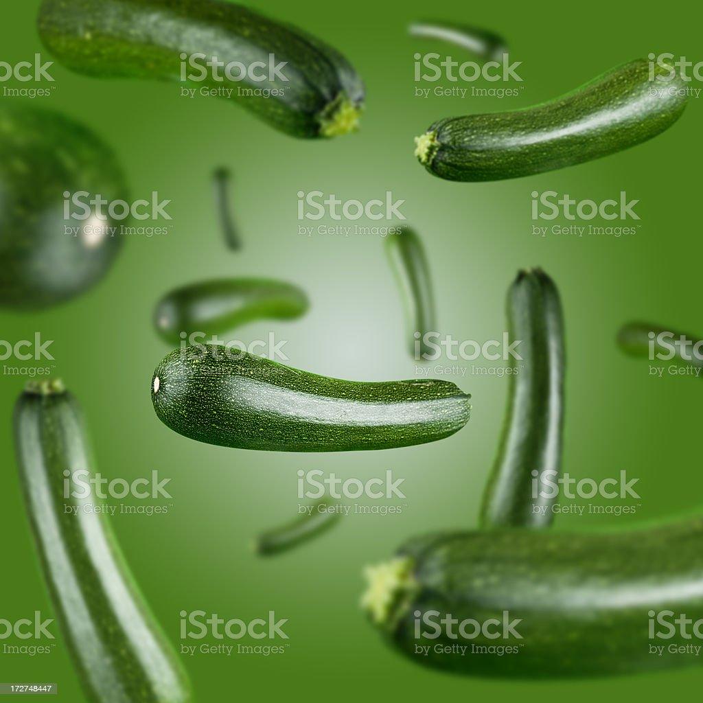 Zucchini Explosion royalty-free stock photo