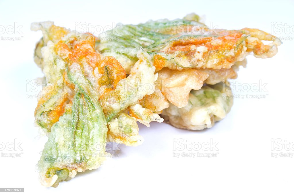 Zucchini flowers stock photo