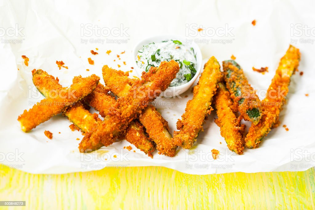 Zucchini Fries stock photo