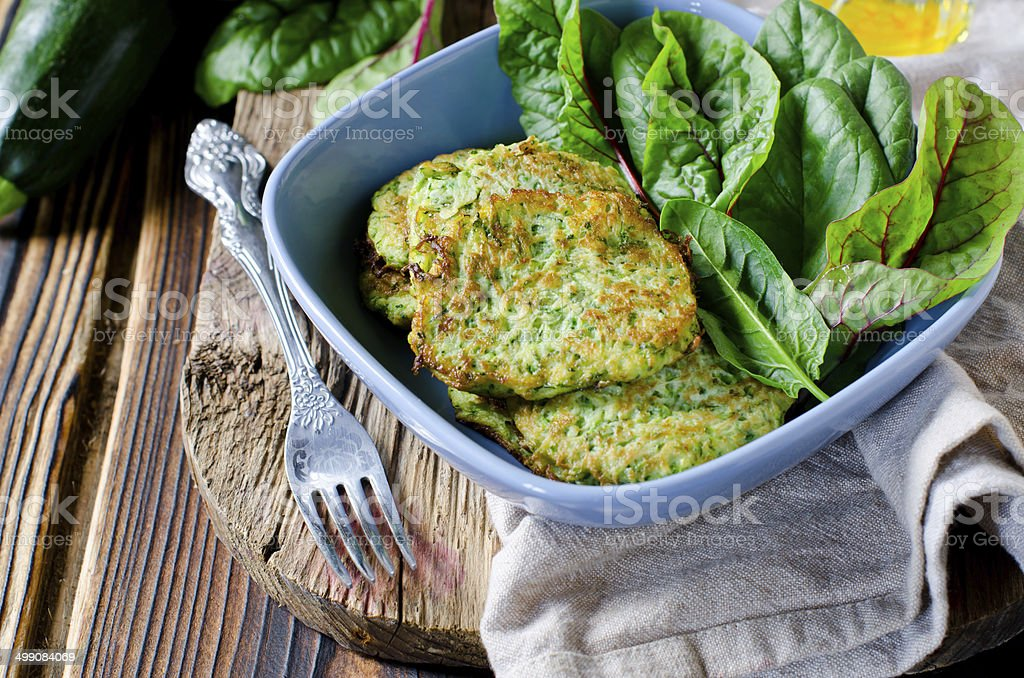 Zucchini Fritters stock photo