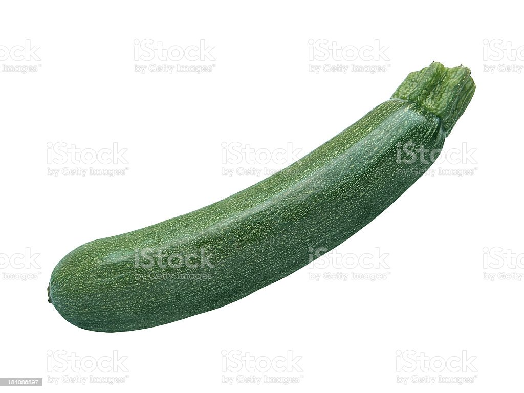 Zucchini isolated on white royalty-free stock photo