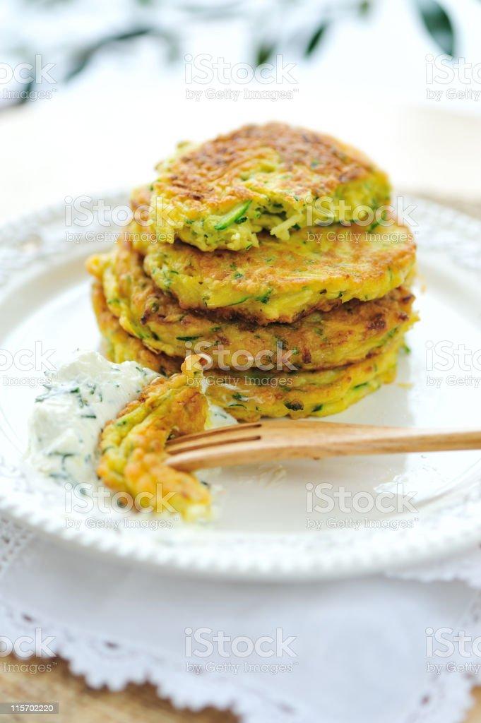 Zucchini Pancake royalty-free stock photo