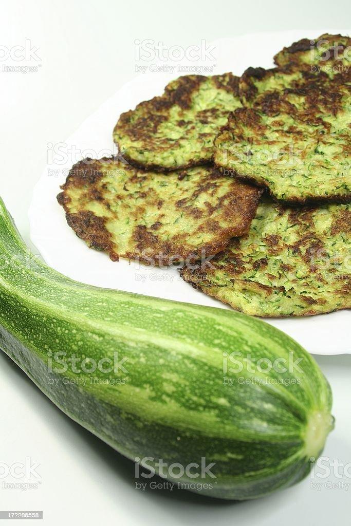 Zucchini Pancakes royalty-free stock photo