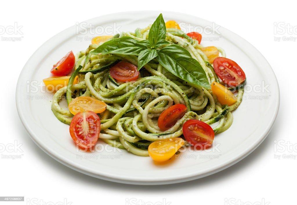 Zucchini pasta stock photo