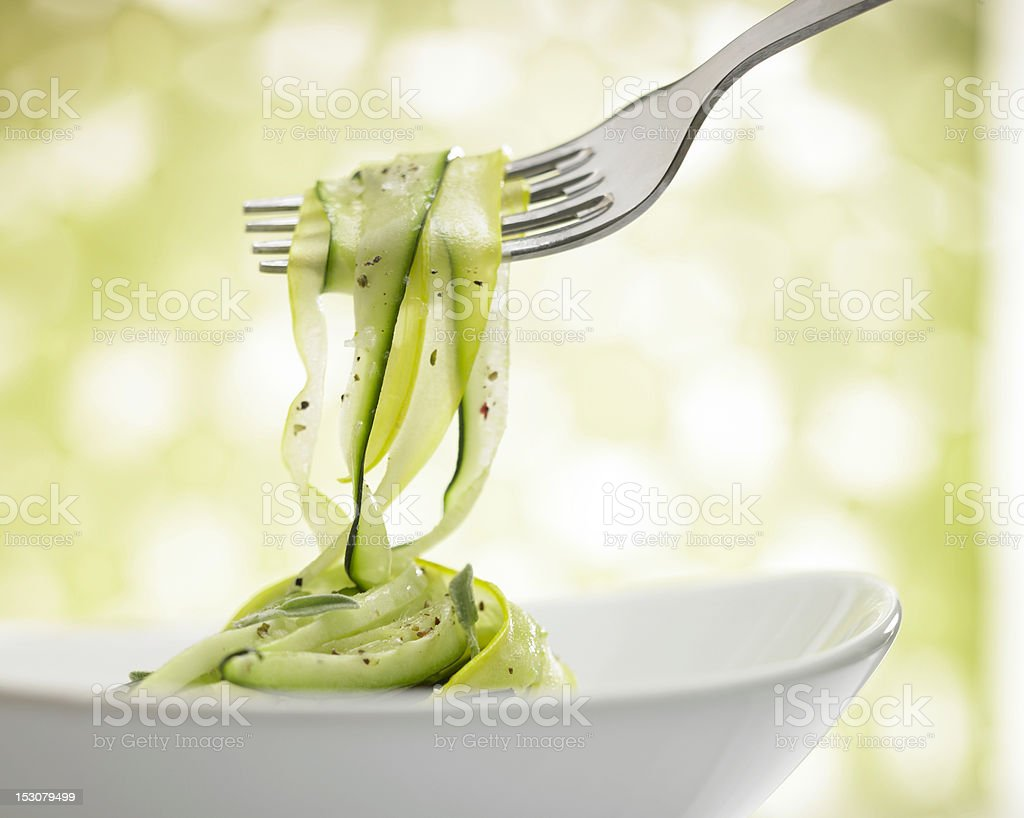 Zucchini Ribbons stock photo