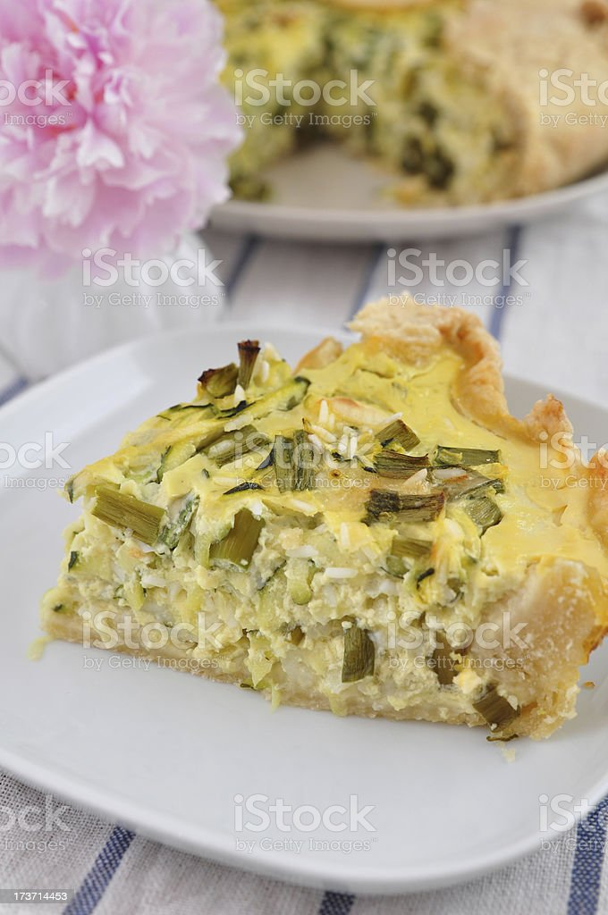 Zucchini Rice Crostata royalty-free stock photo