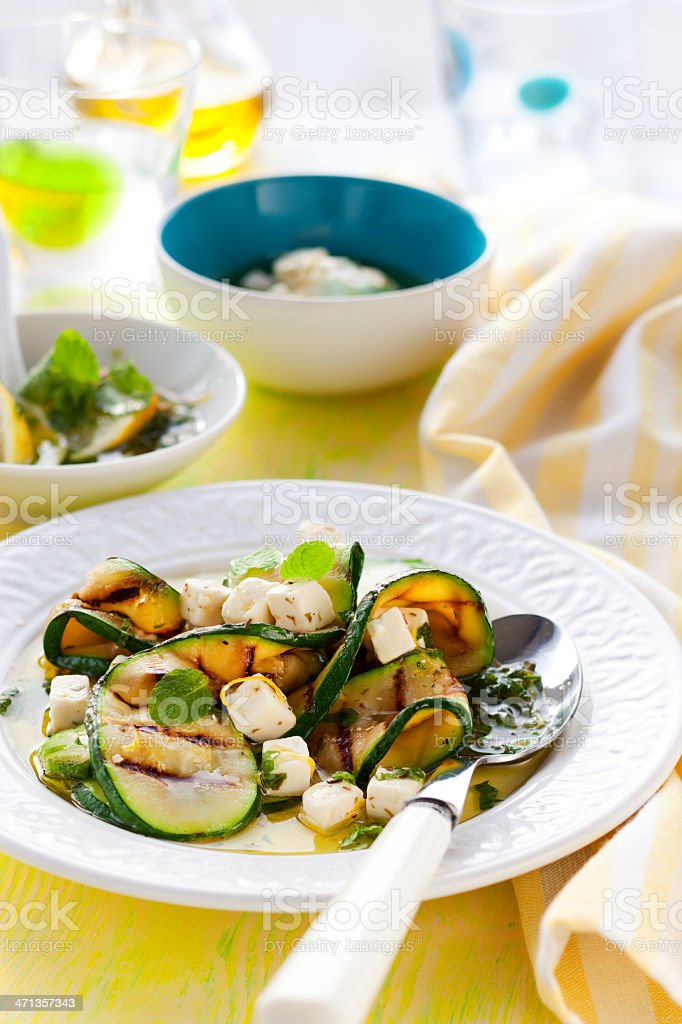 Zucchini salad royalty-free stock photo