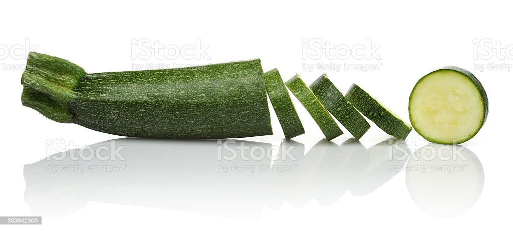 Zucchini slices stock photo