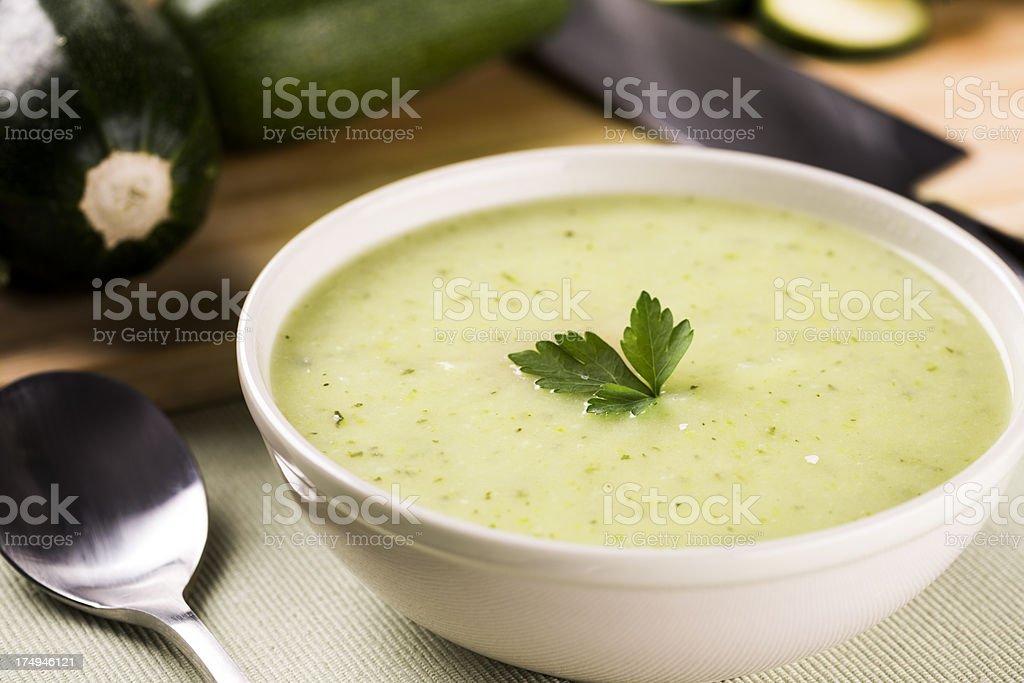 Zucchini soup royalty-free stock photo