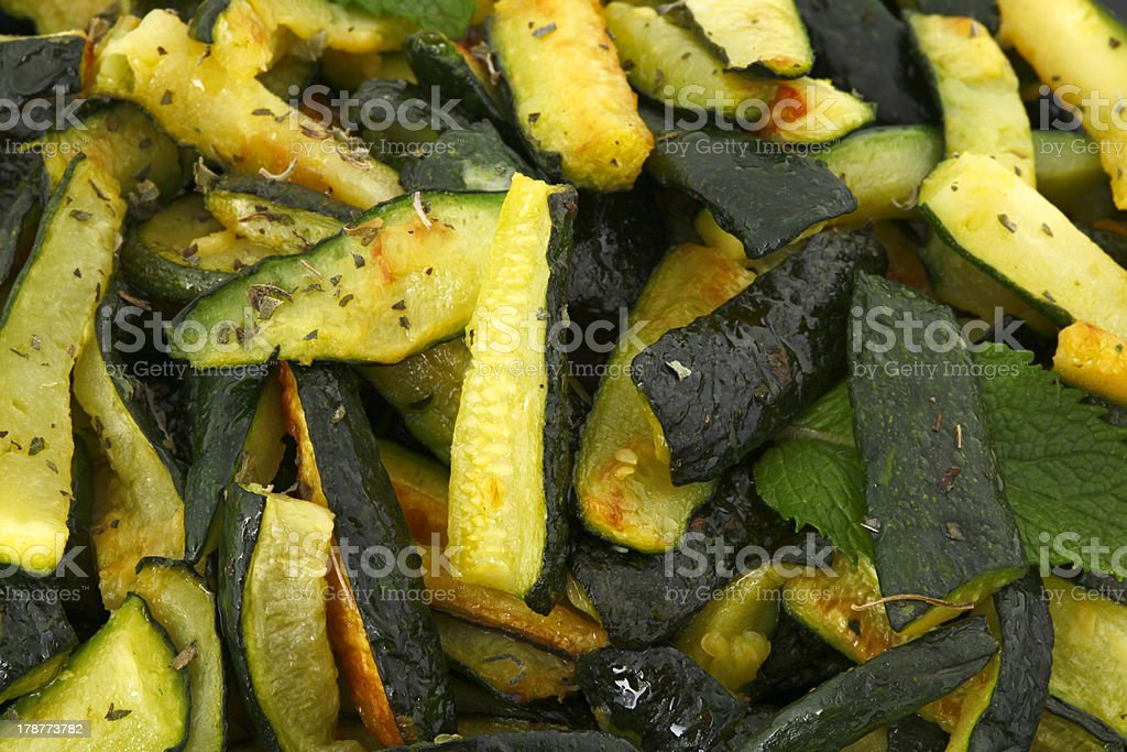 Zucchinis with mint stock photo