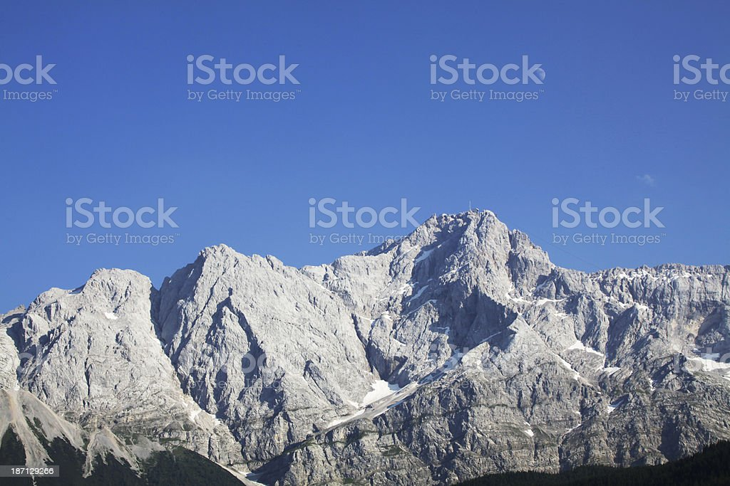 Zugspitz Mountain royalty-free stock photo