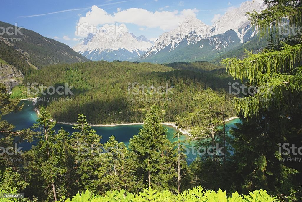 Zugspitze, Austria stock photo