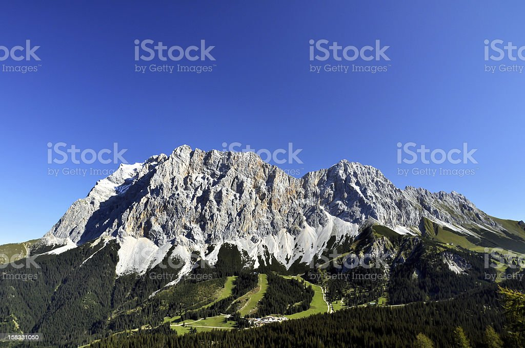 Zugspitze, Germany's highest mountain royalty-free stock photo