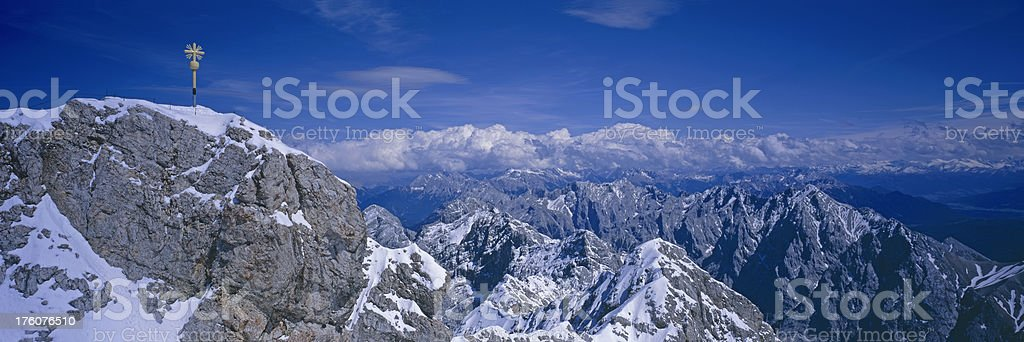Zugspitze ,Germanys highest Mountain royalty-free stock photo