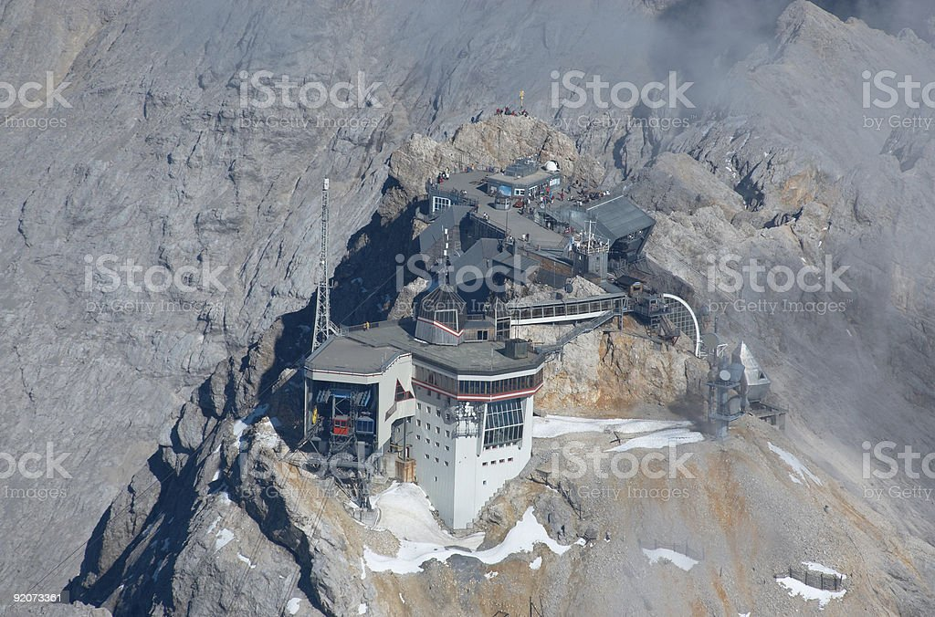 Zugspitze  - highest place stock photo