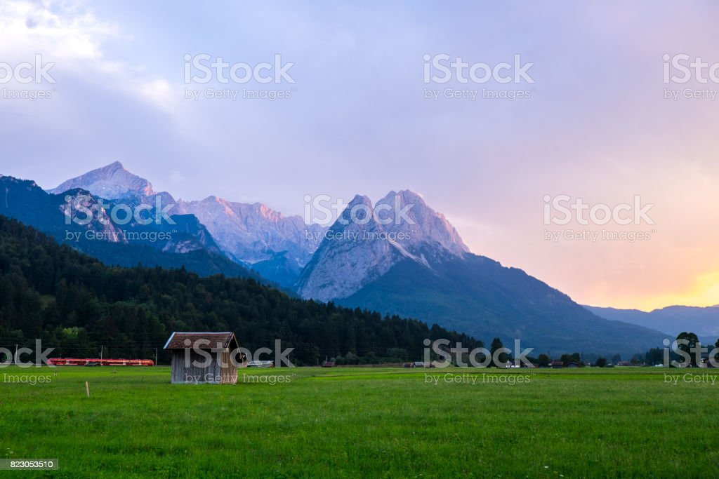 Zugspitze in Southern Germany stock photo