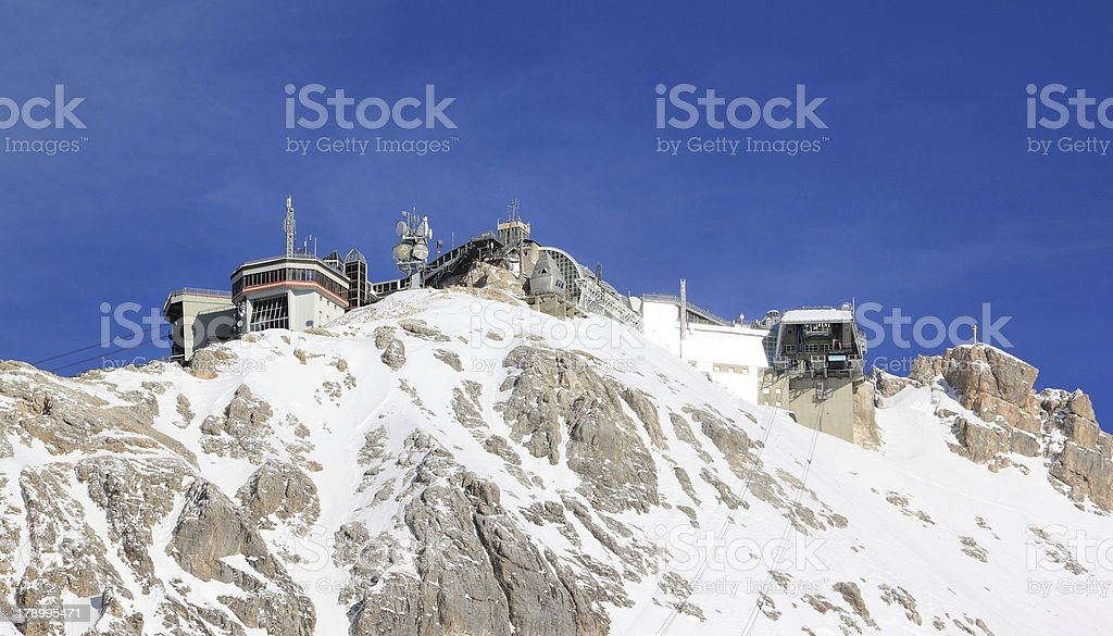Zugspitze Mounain - the top of Germany. royalty-free stock photo