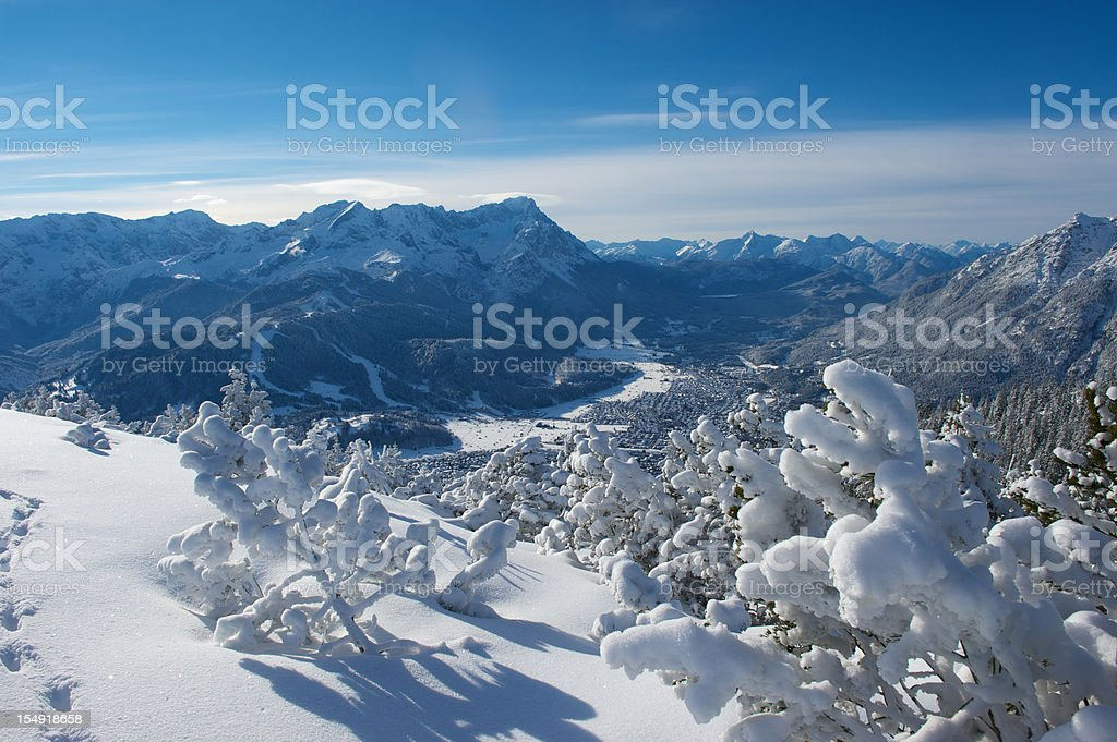 Zugspitze mountain in the Alps royalty-free stock photo
