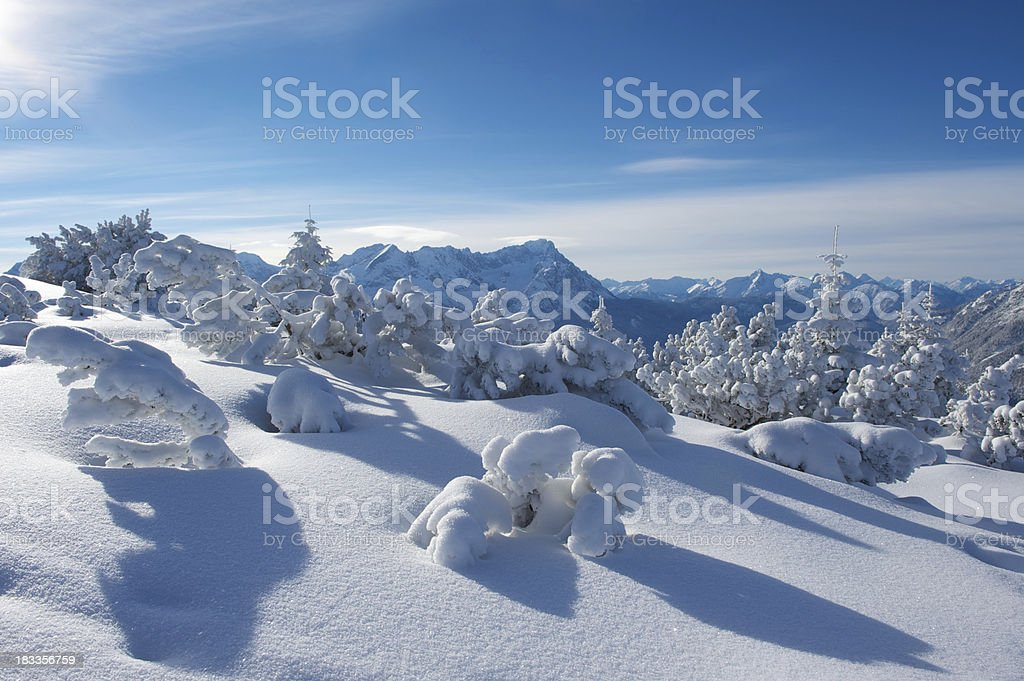 Zugspitze mountain in the Bavarian Alps royalty-free stock photo