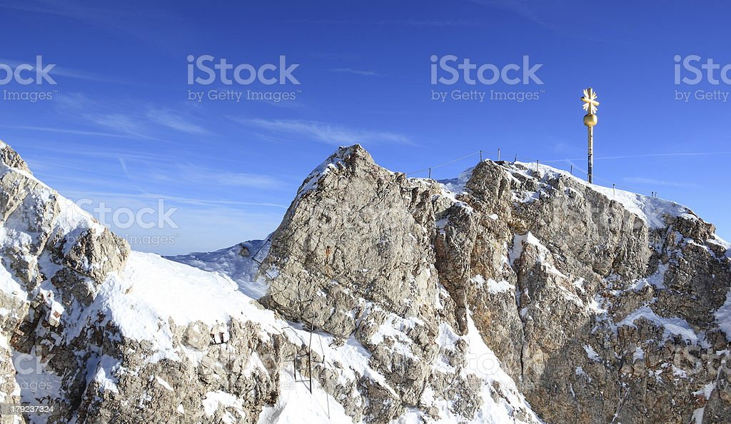 Zugspitze mountain - Top of Germany. royalty-free stock photo