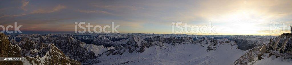 Zugspitze Panorama stock photo