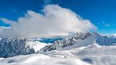 Zugspitze Ski Resort in Bavarian Alps, Germany