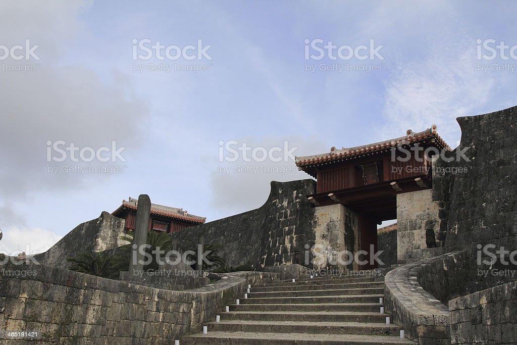 Zuisenmon gate at Shuri Castle in Okinawa, Japan stock photo