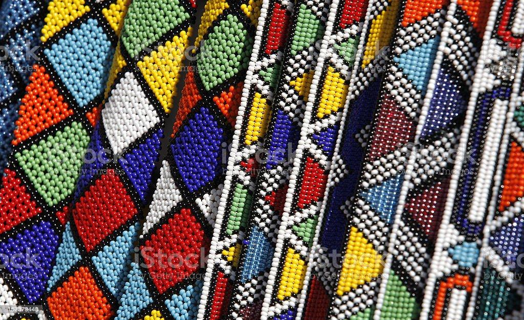 Zulu beadwork from South Africa stock photo
