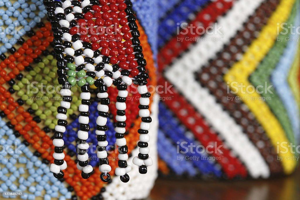 Zulu beadwork South Africa stock photo