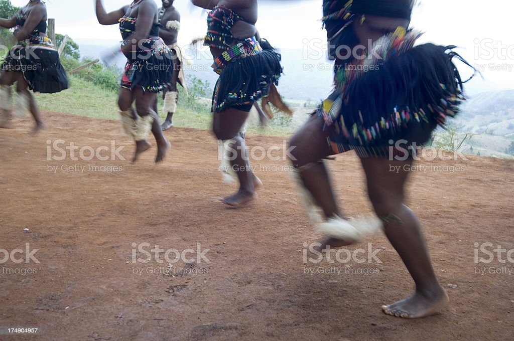 Zulu dancers royalty-free stock photo