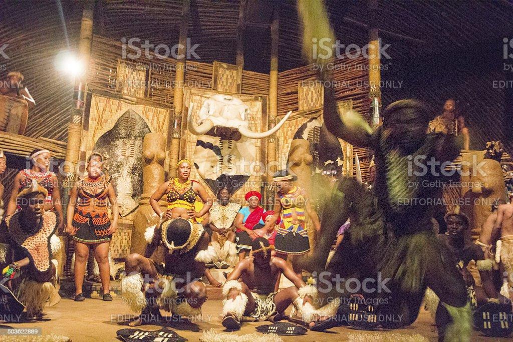 Zulu Dancing in KwaZulu-Natal, South Africa stock photo