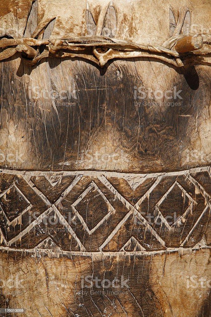 Zulu drum detail South Africa stock photo