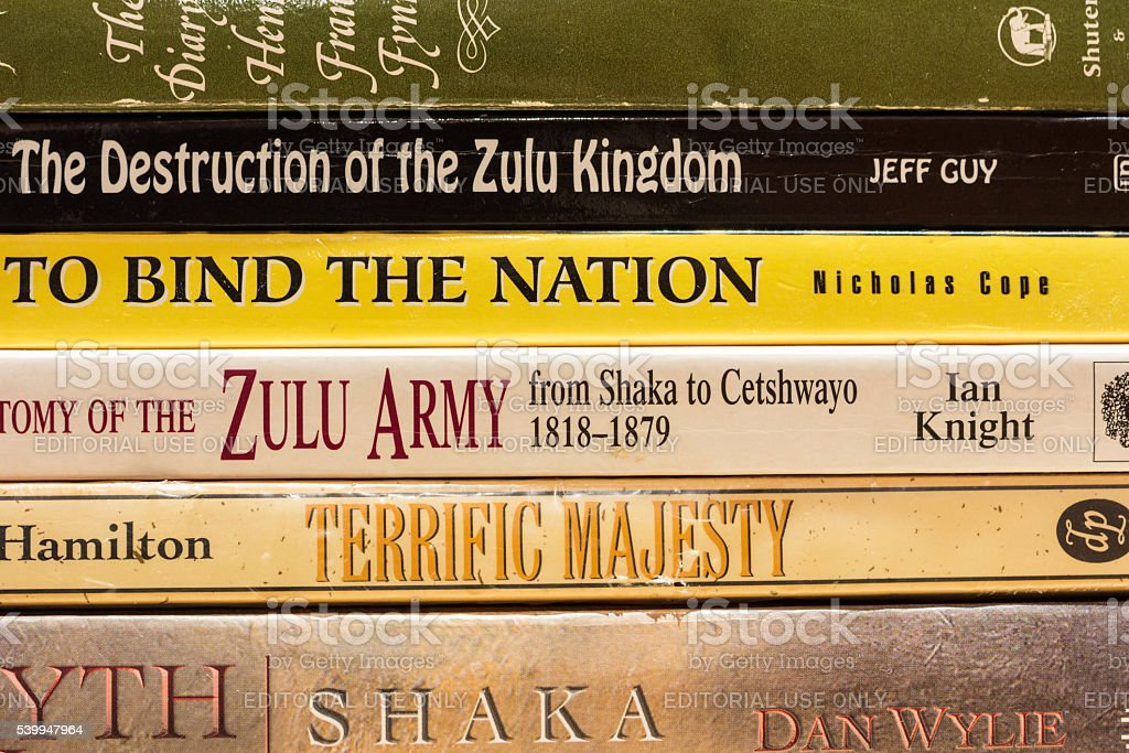 Zulu History Books stock photo