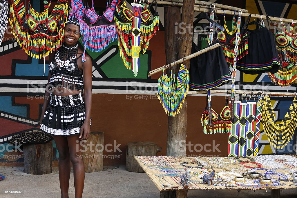 Zulu woman from South Africa stock photo