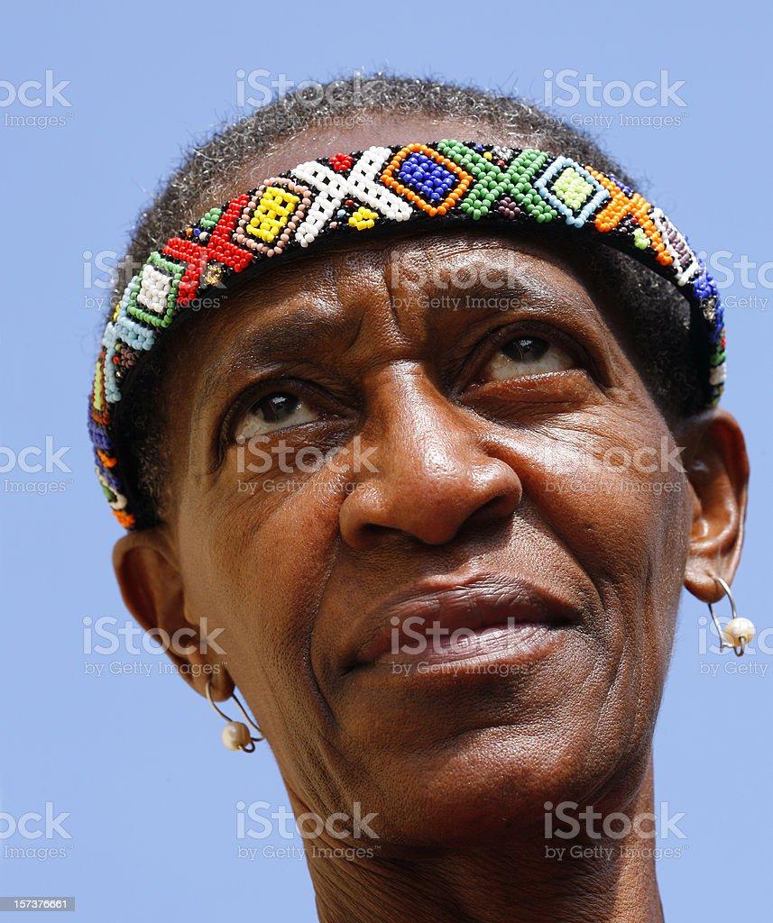 Zulu woman portrait stock photo