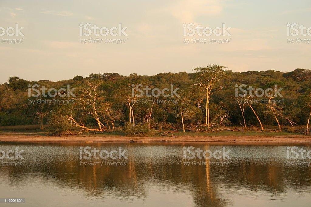 Zululand lake stock photo