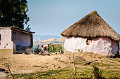 Zululand village rural hauses, South Africa