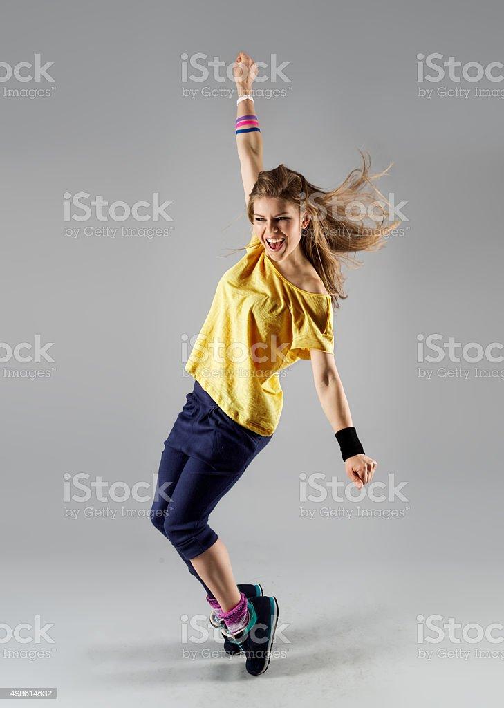 Zumba aerobics woman stock photo