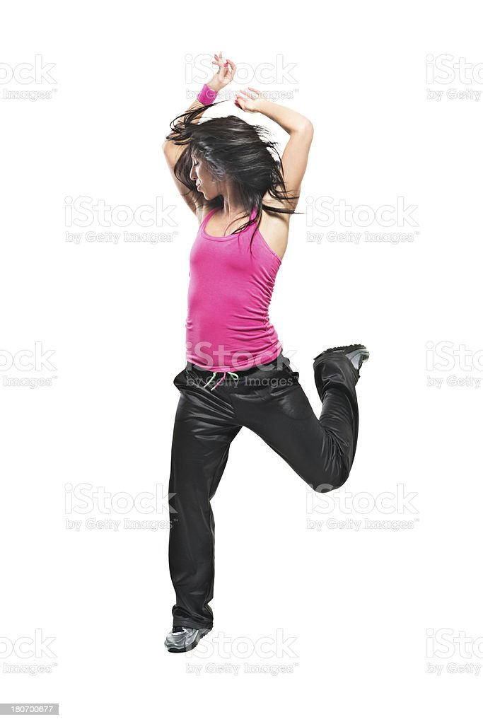 Zumba exercise royalty-free stock photo