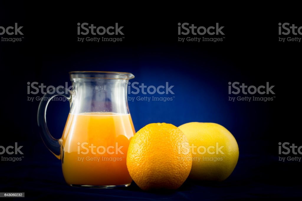 Zumo de naranja con pomelo stock photo