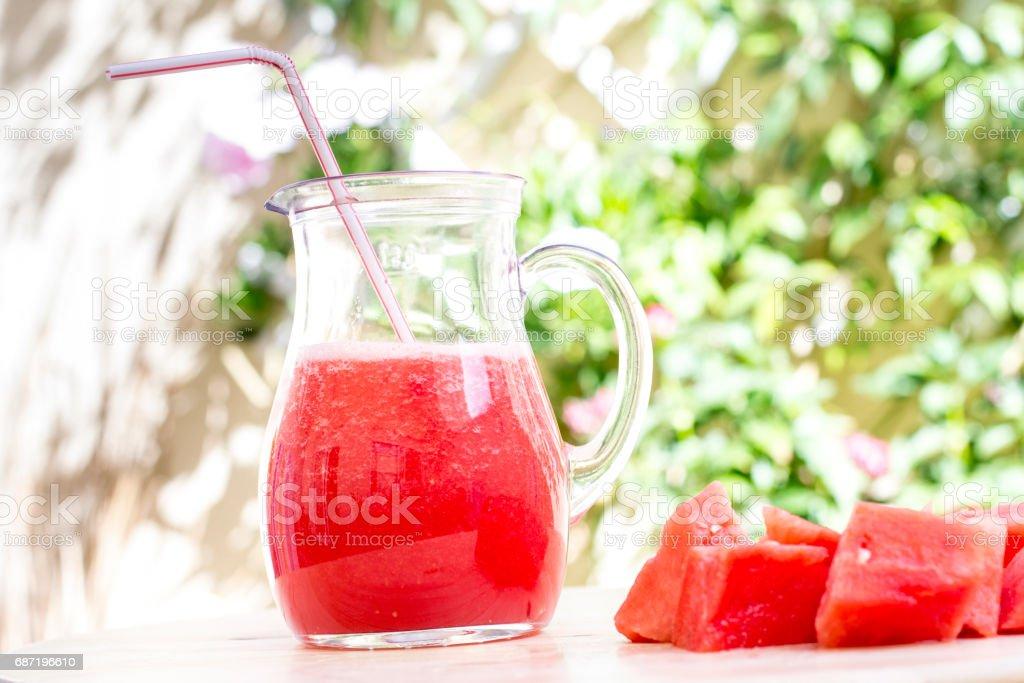 zumo de sandia stock photo