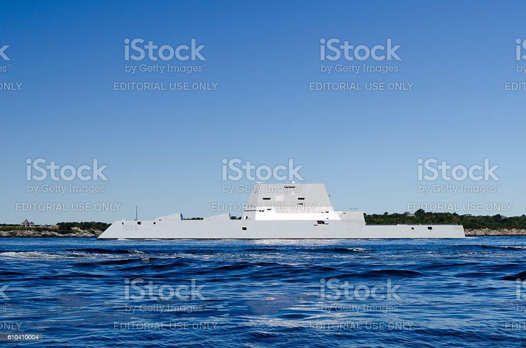 USS Zumwalt stock photo