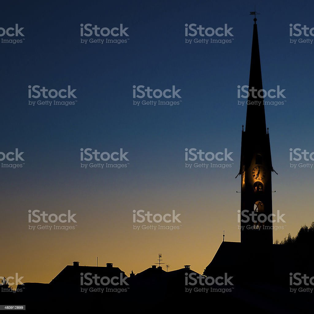Zuoz bell tower royalty-free stock photo