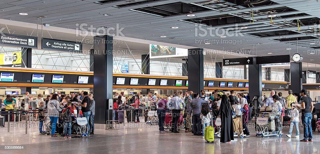 Zurich airport stock photo