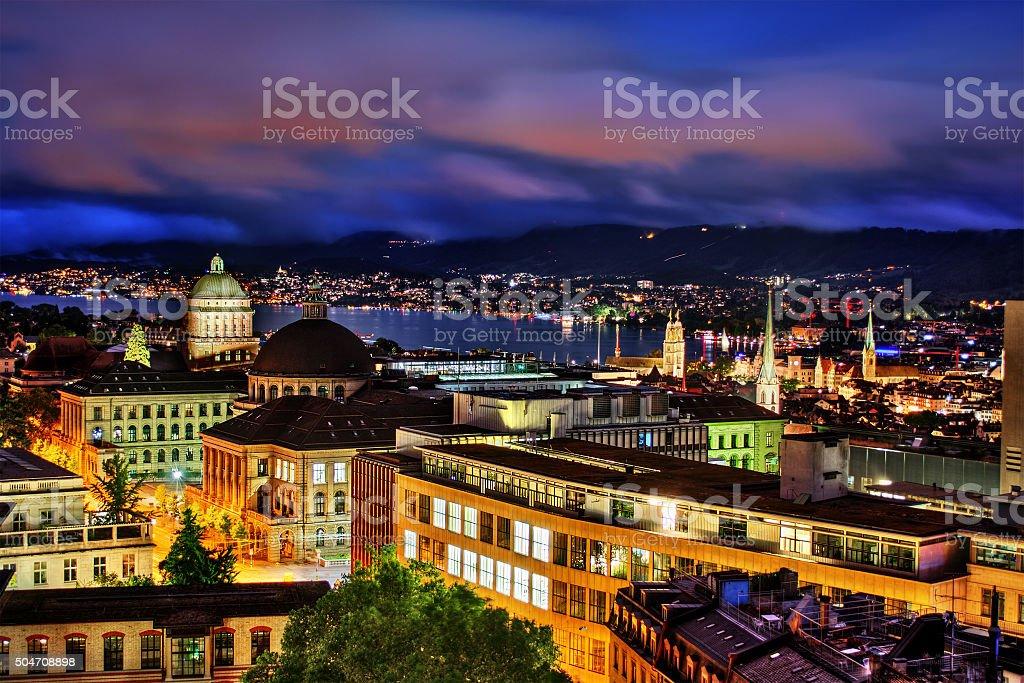 Zurich by Night stock photo