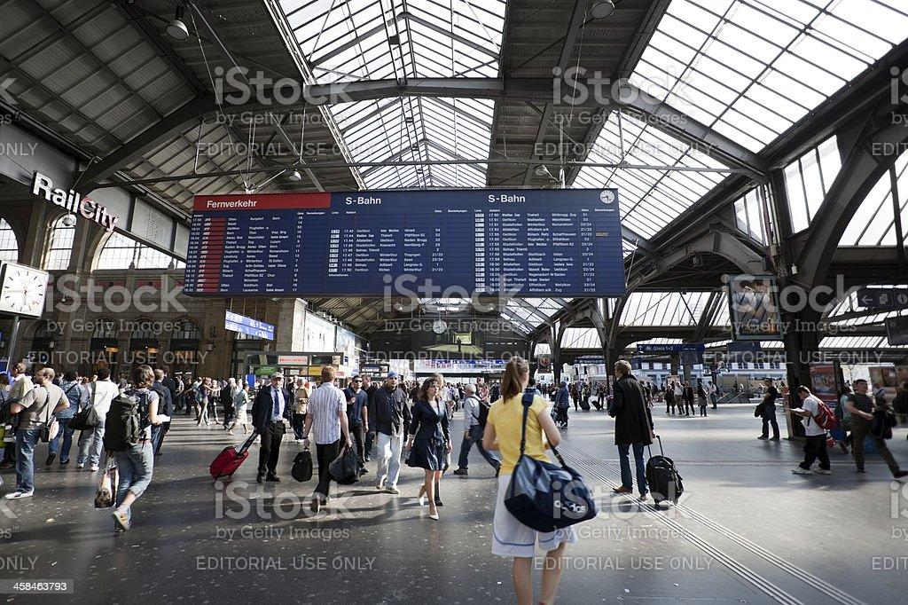 Zurich Central Station stock photo