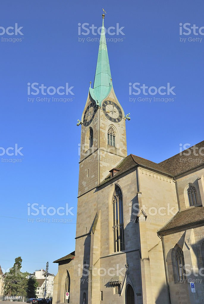 Zurich. Church Fraumuenster stock photo
