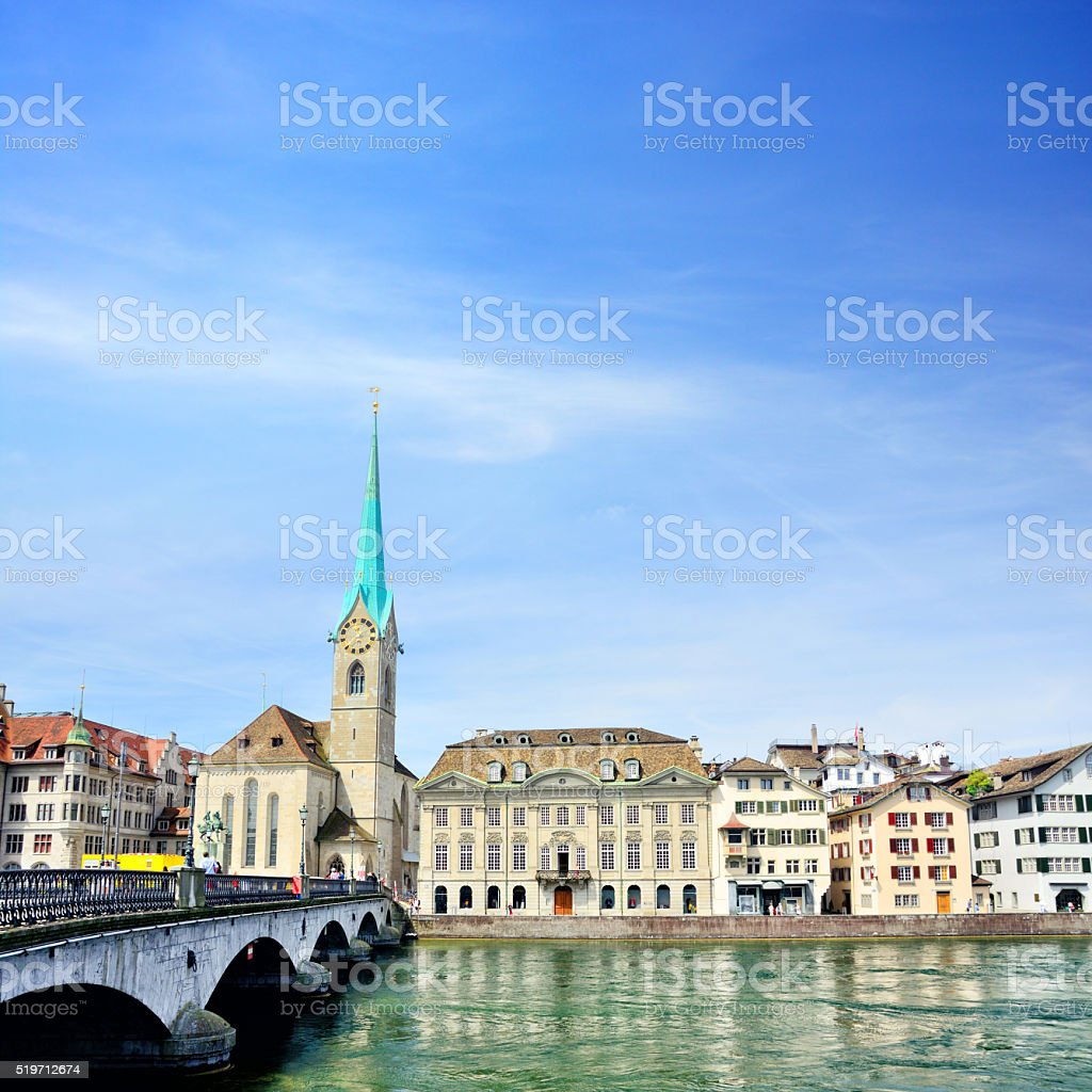 Zurich cityscape stock photo